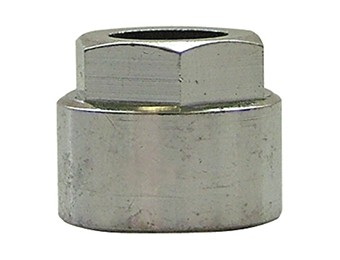 ECROU ROND A COLLET BATTU CHROME